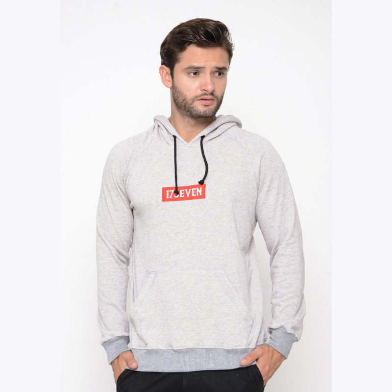 17Seven Genvie Men Sweater Hoodie White