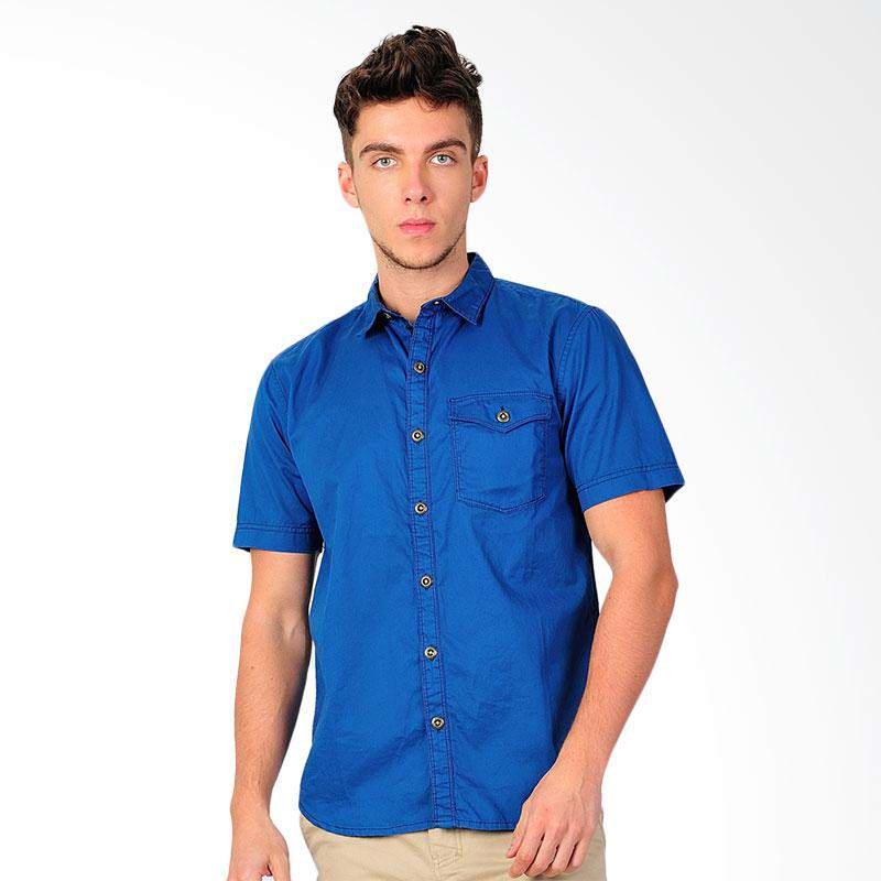 New Tanaska Mens Shirt Kemeja Pria - Navy