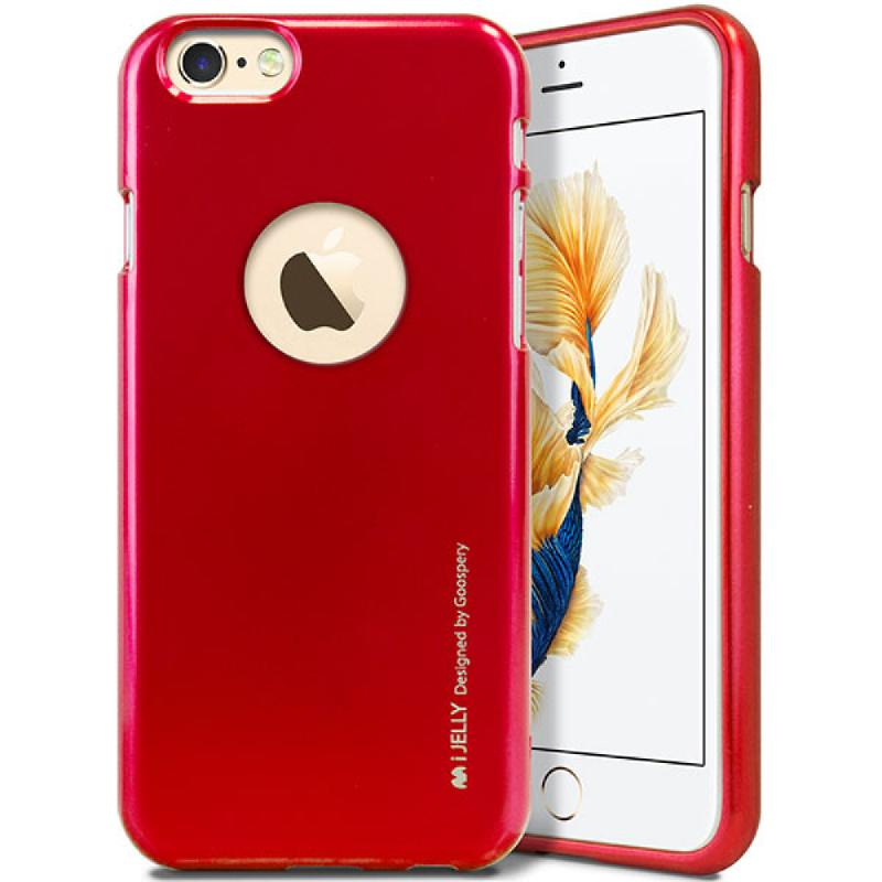 Goospery i-Jelly for iPhone 6s - Merah