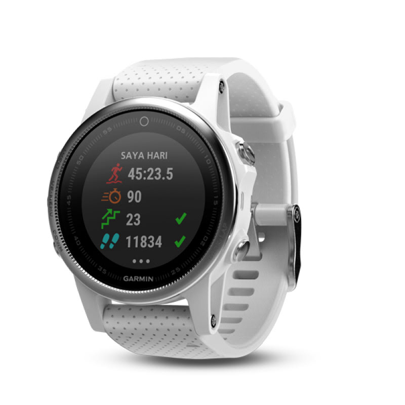 Garmin Fenix 5s Carrara White GPS Watch  SEA