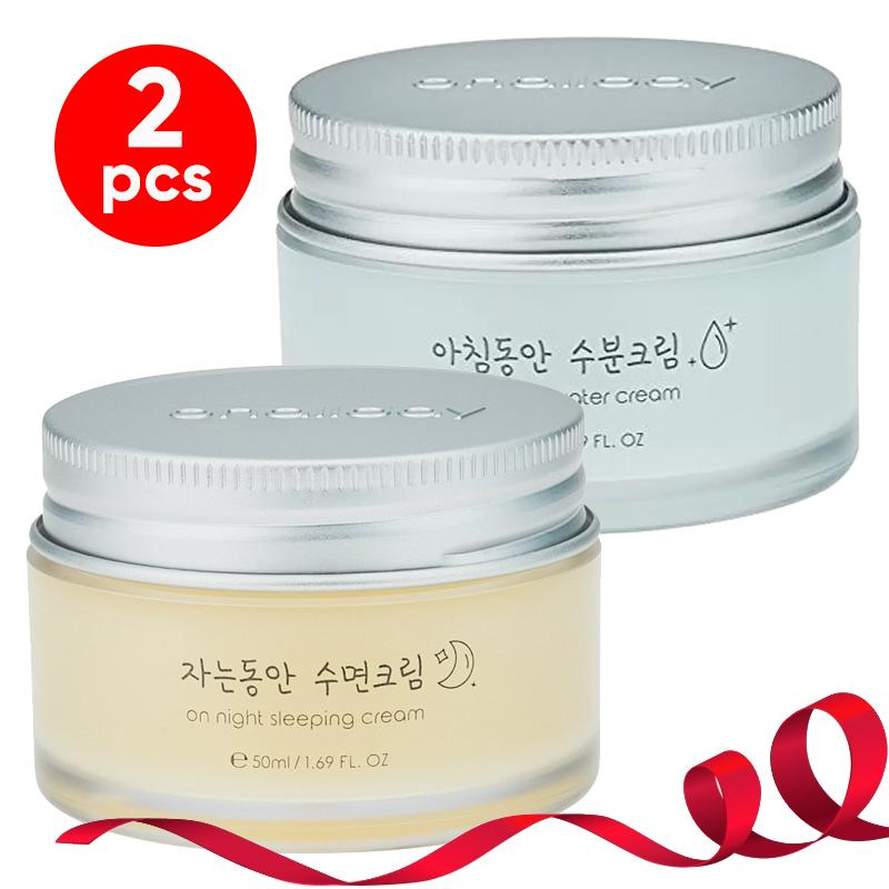 Onallday On Night Sleeping Cream 50 Ml + Onallday On Morning Water Cream 50 Ml