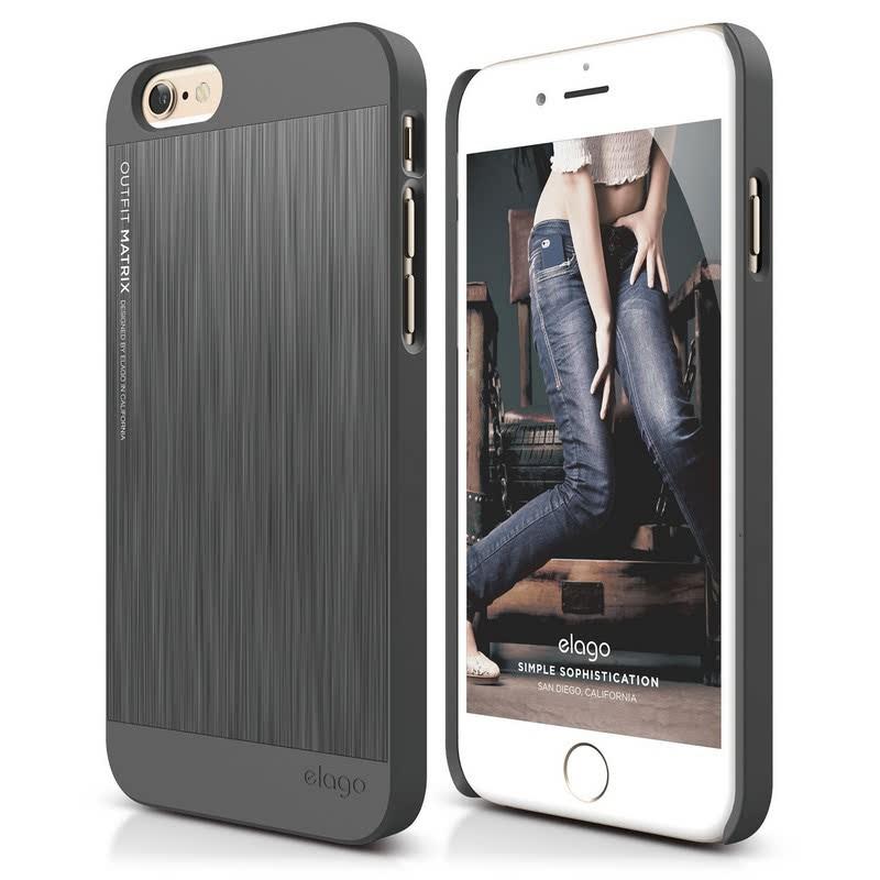 Elago Outfit Matrix Case for iPhone 6, 6S - Dark Gray + Dark Gray