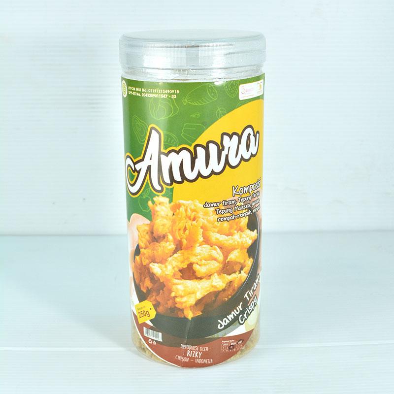 Amura Jamur Crispy Keju Manis Toples 250 gr