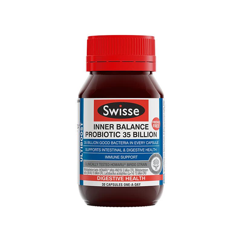 Swisse Ultiboost Inner Balance Probiotic Shelf Stable 35B 30 Caps