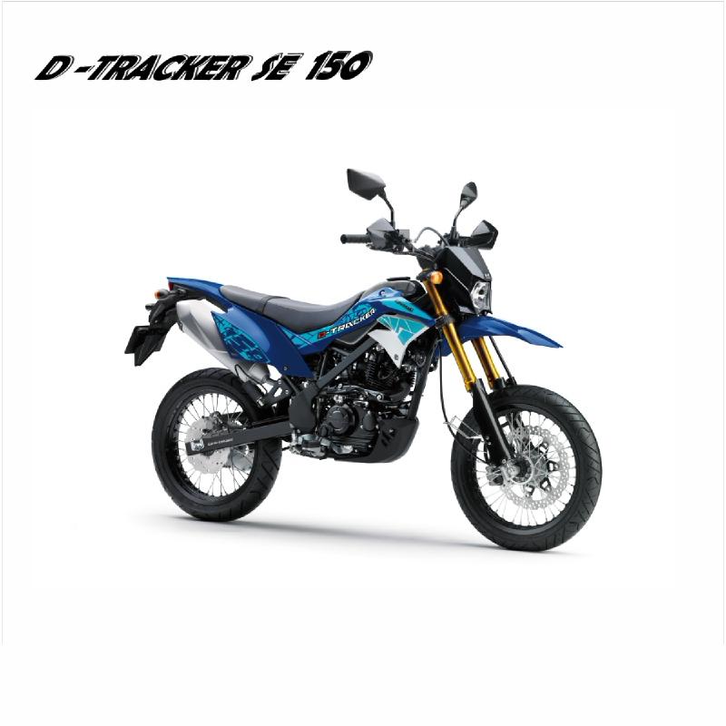 New Kawasaki Dtracker 150 Se Sepeda Motor - Biru (detabekser) (VIN 2019)