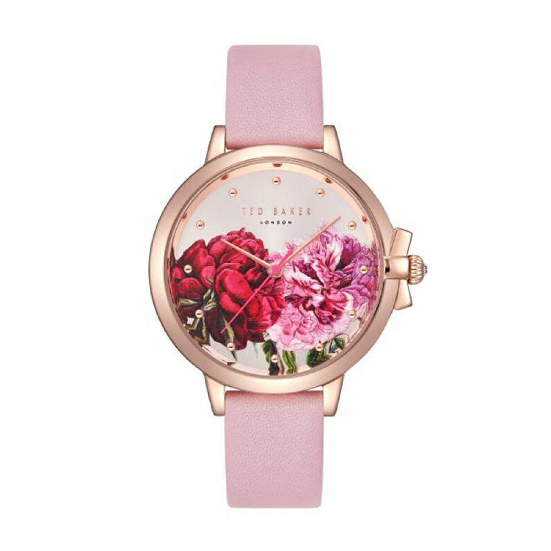 Ted Baker TE50267011 Women Watch Leather Strap Pink