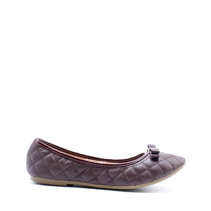 Regina Shoes Tory Flat Shoes Coffee