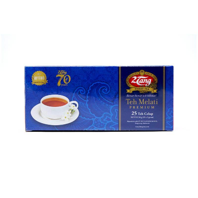 2 Tang Teh Celup Melati Premium Kotak 25 Pcs