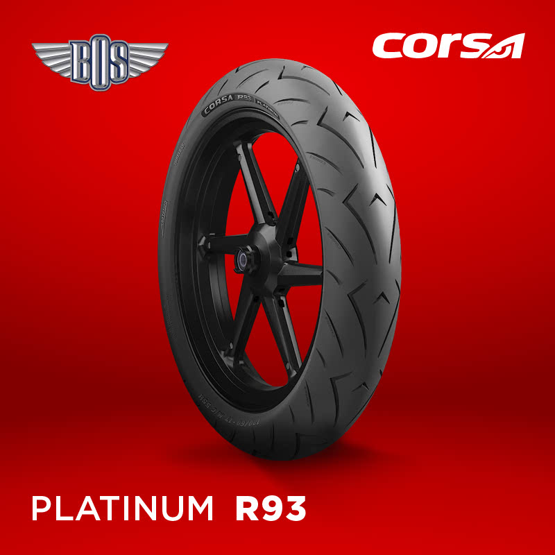 Ban Motor corsa R93 (Front)-110-70-17-Tubeless- GRATIS JASA PASANG