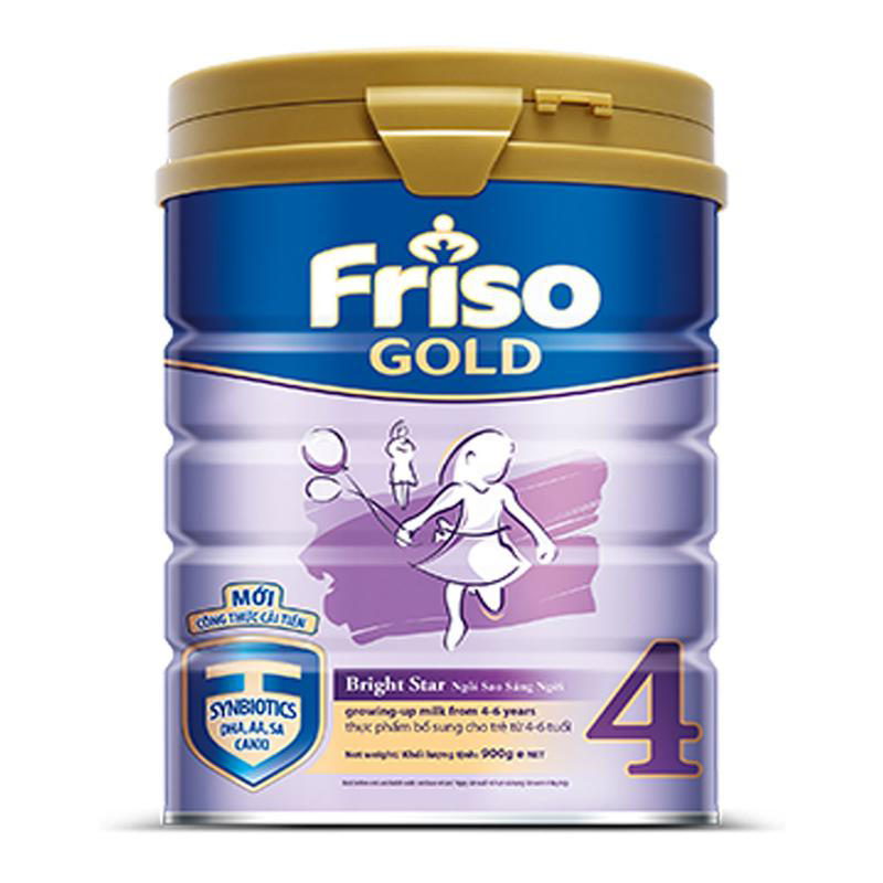 Friso Powder Milk Gold 4 Plain Tin 900Gr