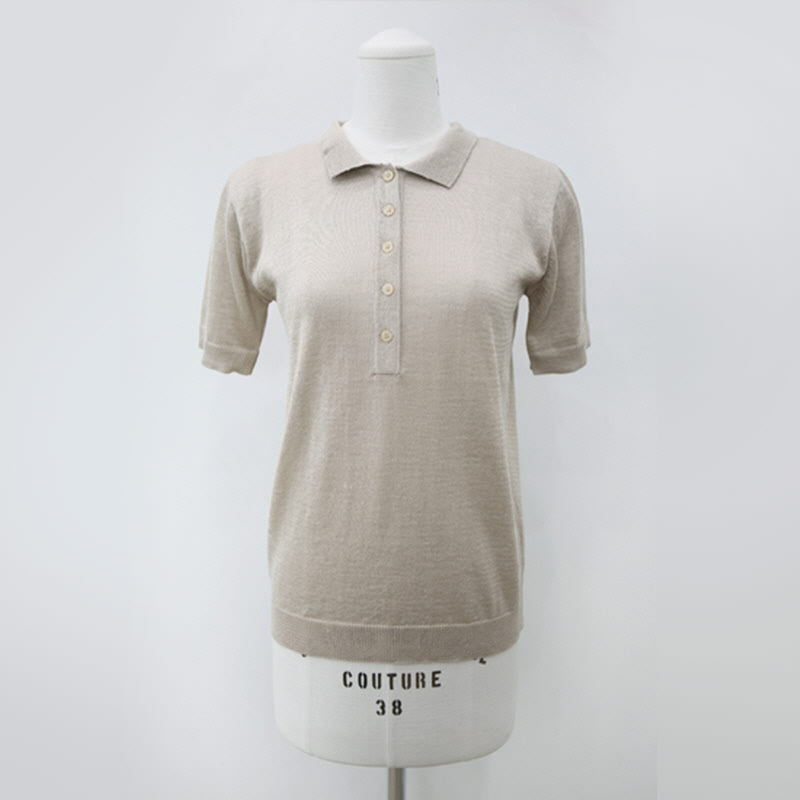And Collar Knit (4color) BEIGE