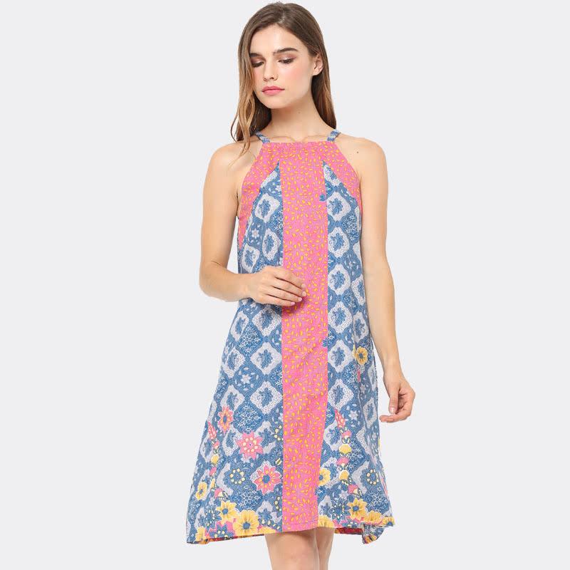 Anakara Halter Dress Quinas Blue