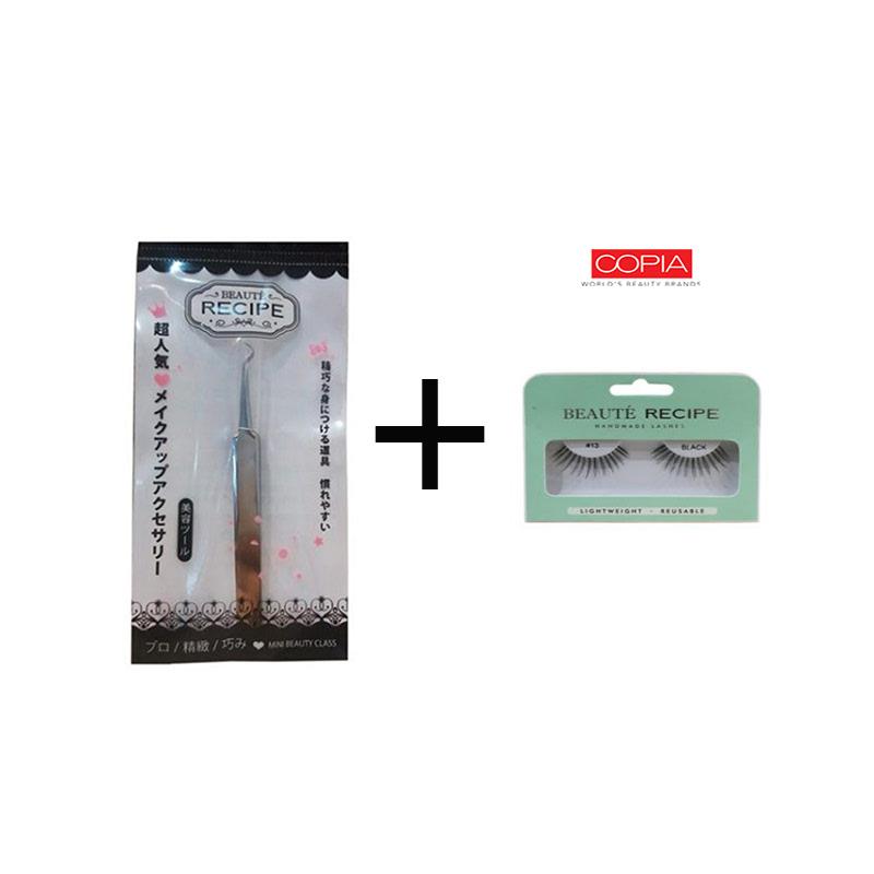 Beaute Recipe Acne Clip 1663-1 + Beauty Tools Eyelash 13 Black