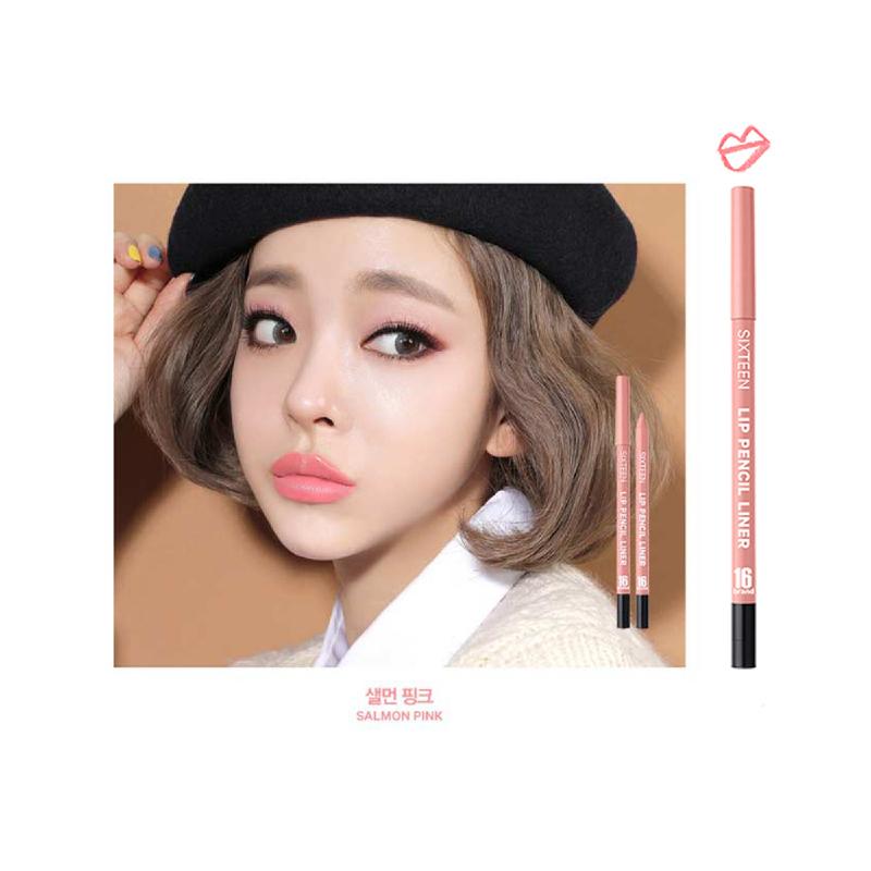 16brand Lip Pencil Liner - Salmon Pink