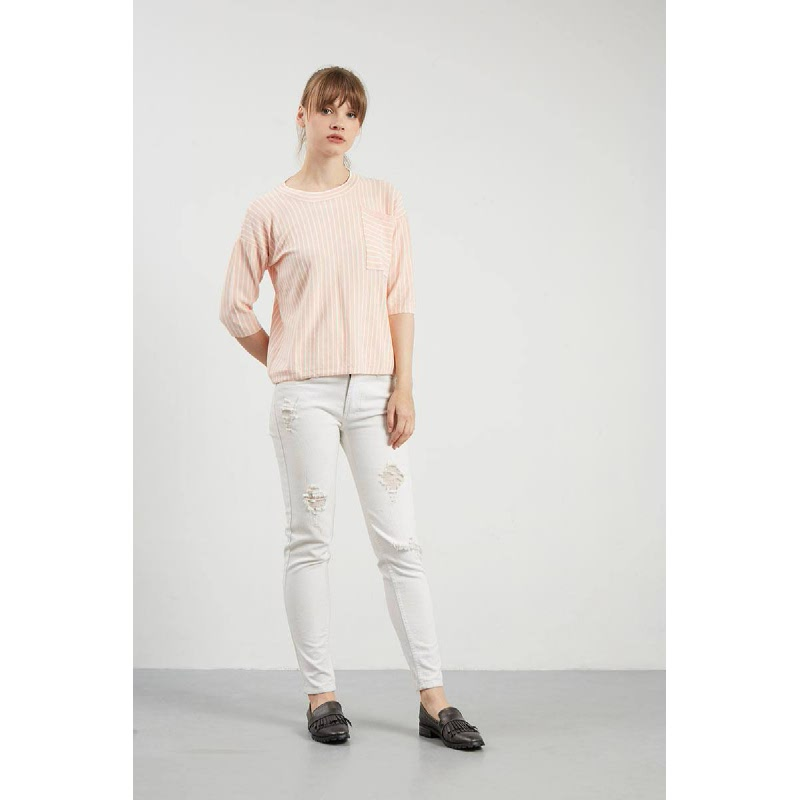 Francois Melle Top in Peach