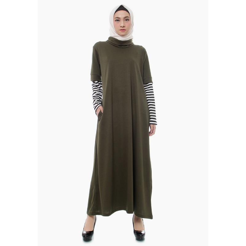 Mybamus Selvi Turtleneck Dress Army M14605 R85S1