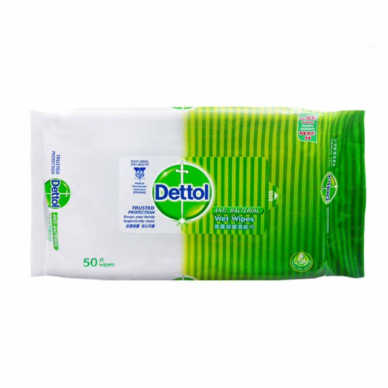 Dettol Wipes Anti Bacterial 50 Sheets