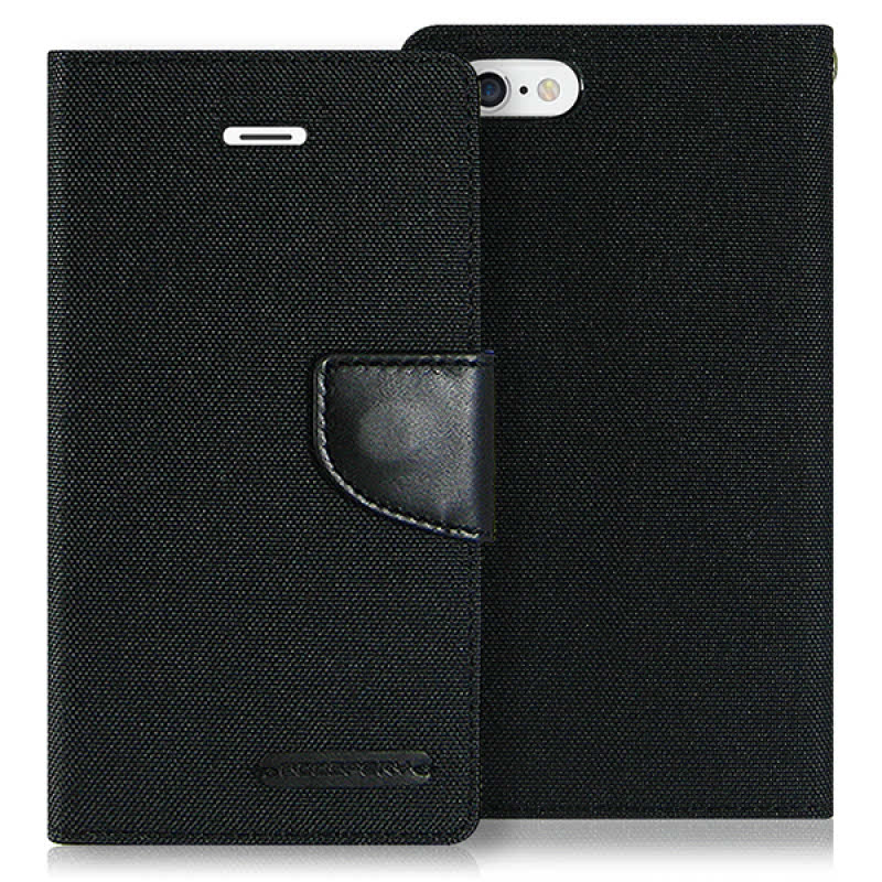 Goospery Canvas Diary for iPhone 6 - Hitam