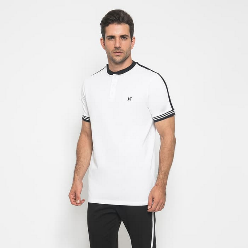 Mon Akita Men Polo Shirt Wyatt White