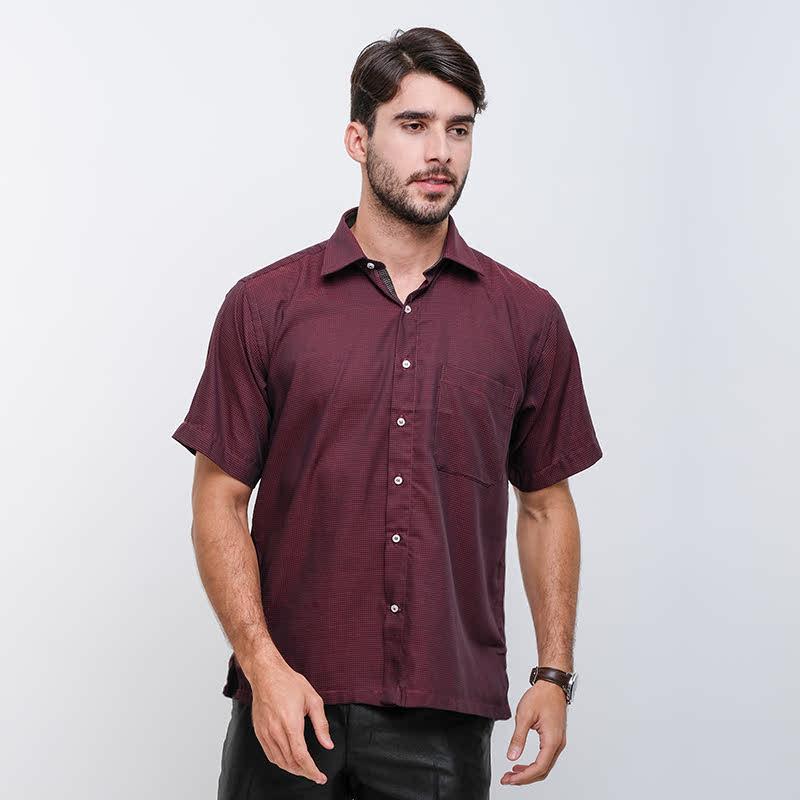 Gianni Visentin Regular Shirt Marun