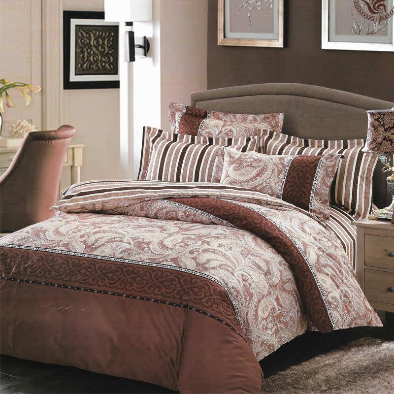 Sleep Buddy Set Sprei Brown Classic Cotton Sateen 160x200x30