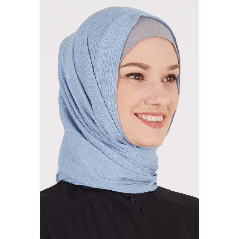 Darsha Pashmina Plain Baby Blue